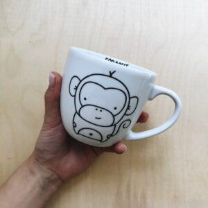 Kubek z małpką